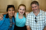 Emma's mentors, Jessica Hobson and 7th grade social studies teacher David Howard