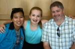 Emma's mentors, Jessica Hobson and 7th grade social studies teacher David Howard